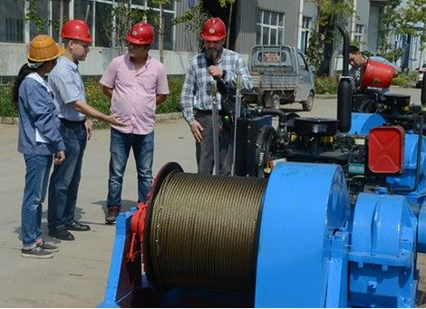 2017 Russia Customer Visting 5T Diesel Winch