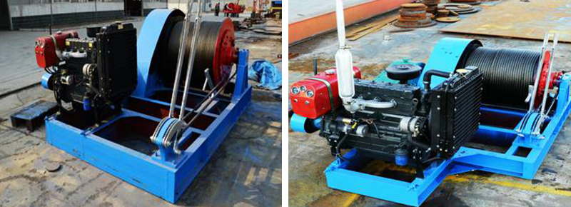 Big Capacity Diesel Engine Winch
