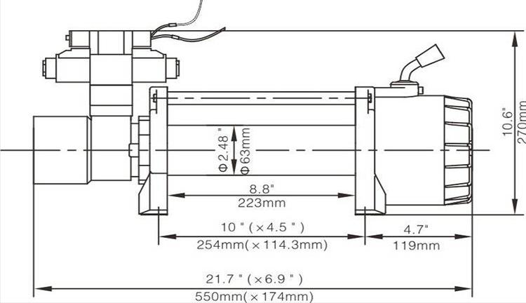 Hydraulic ATV Winch